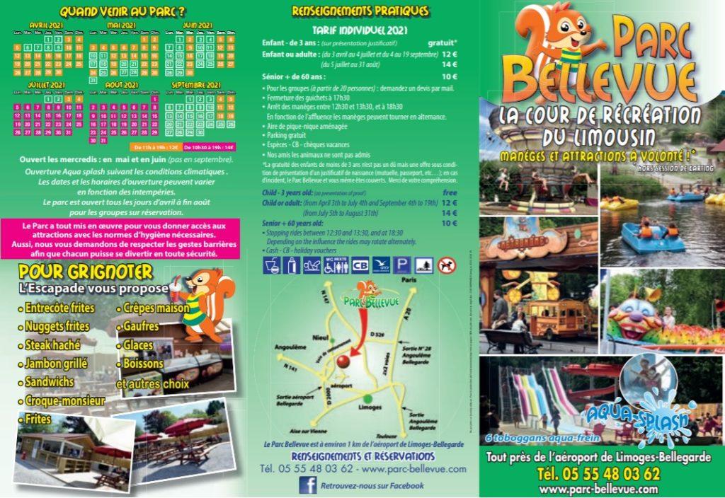 Brochure parc Bellevue
